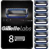 Gillette Labs Heated Razor Cuchillas de Afeitar Hombre, Paquete de 8 Cuchillas de Recambios