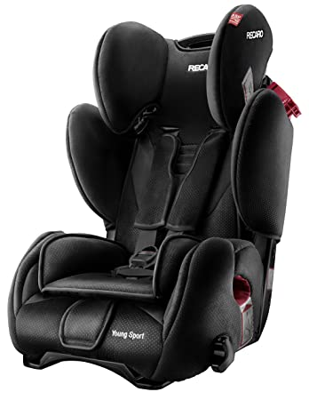 Beau RECARO Young Sport Group 1/2/3 Combination Car Seat (Black)