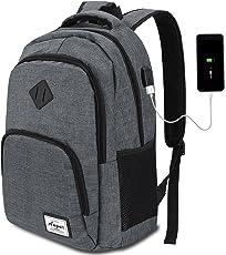 AUGUR Laptop Rucksack 12-16 Zoll(9 Farben),Business Rucksack Schulrucksack Daypack Reiserucksack mit USB-Ladeanschluss, Wasserdichte Rucksack Unisex für Arbeit Schule Reise