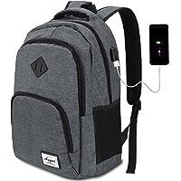 15 Farben Laptop Rucksack Business Rucksack für 15.6 Zoll Laptop Schulrucksack mit USB-Ladeanschluss für Arbeit Wandern Reisen Camping,für Herren und Damen,Oxford,20-35L