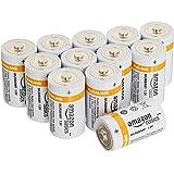AmazonBasics Lot de 12 piles alcalines Type D