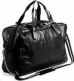 BACCINI Weekender echt Leder Roberto groß Sporttasche Reisetasche Ledertasche Herren 50 cm schwarz