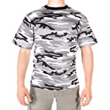 Mens Military Camouflage T-Shirts Short Sleeve Urban Camo (Small)