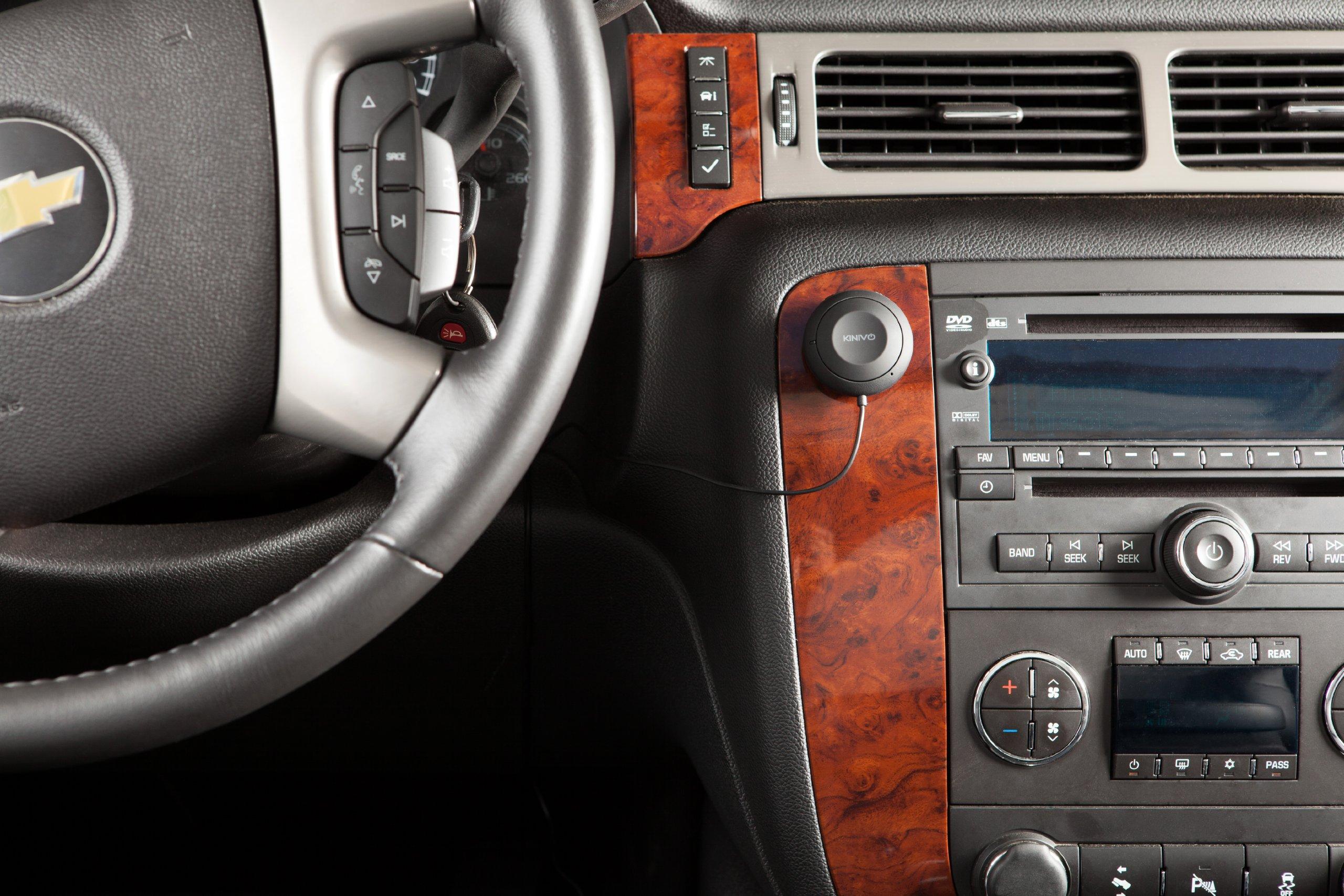 Kinivo-BTC455-Bluetooth-Hands-Free-Car-Kit-fr-Fahrzeuge-mit-AUX-Eingang-35-mm-Untersttzt-apt-X-und-Multi-Punkt-Konnektivitt