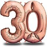 envami Palloncini Compleanno 30 Anni Oro Rosa 101 CM I Palloncino Numero 30 I Numeri Gonfiabili Compleanno I Decorazioni Comp