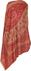 HK Colors of Fashion Wool Blended Ethnic Shawl