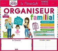 Organiseur familial Mémoniak 2019-2020 - Calendrier sur 16 mois de sept 2019 à dec 2020 : des magnets ultra-solides et...
