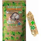 Eritritol 1Kg 100% Natural Edulcorante Cero Calorias DulciLight. Ideal para Reposteria, y Dietas. DulciLight el Sabor Natural