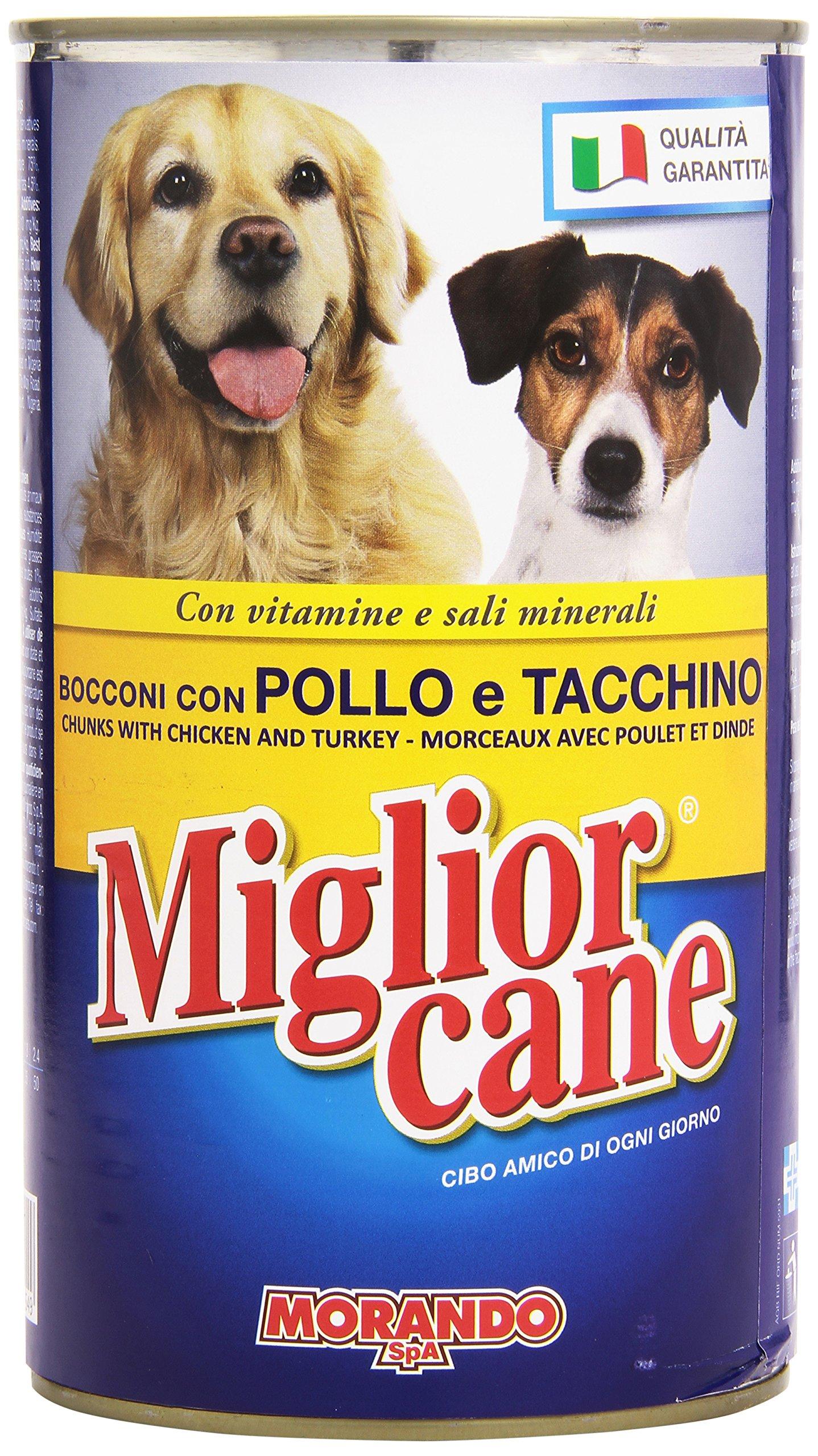 Migliorcane Alimento Completo per Cani, Bocconi con Pollo e Tacchino – 1250 gr