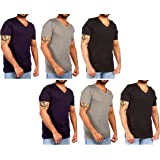 JOTW 6 Pack of Men's Cotton V-Neck T-Shirt - Available in Small to XXXLarge