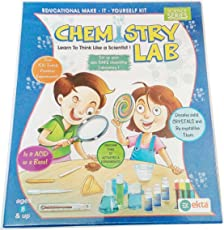 Art Box Chemistry Lab Educational kit for Doing practicals at Home and in Schools for Kids .Learn How Science Works.