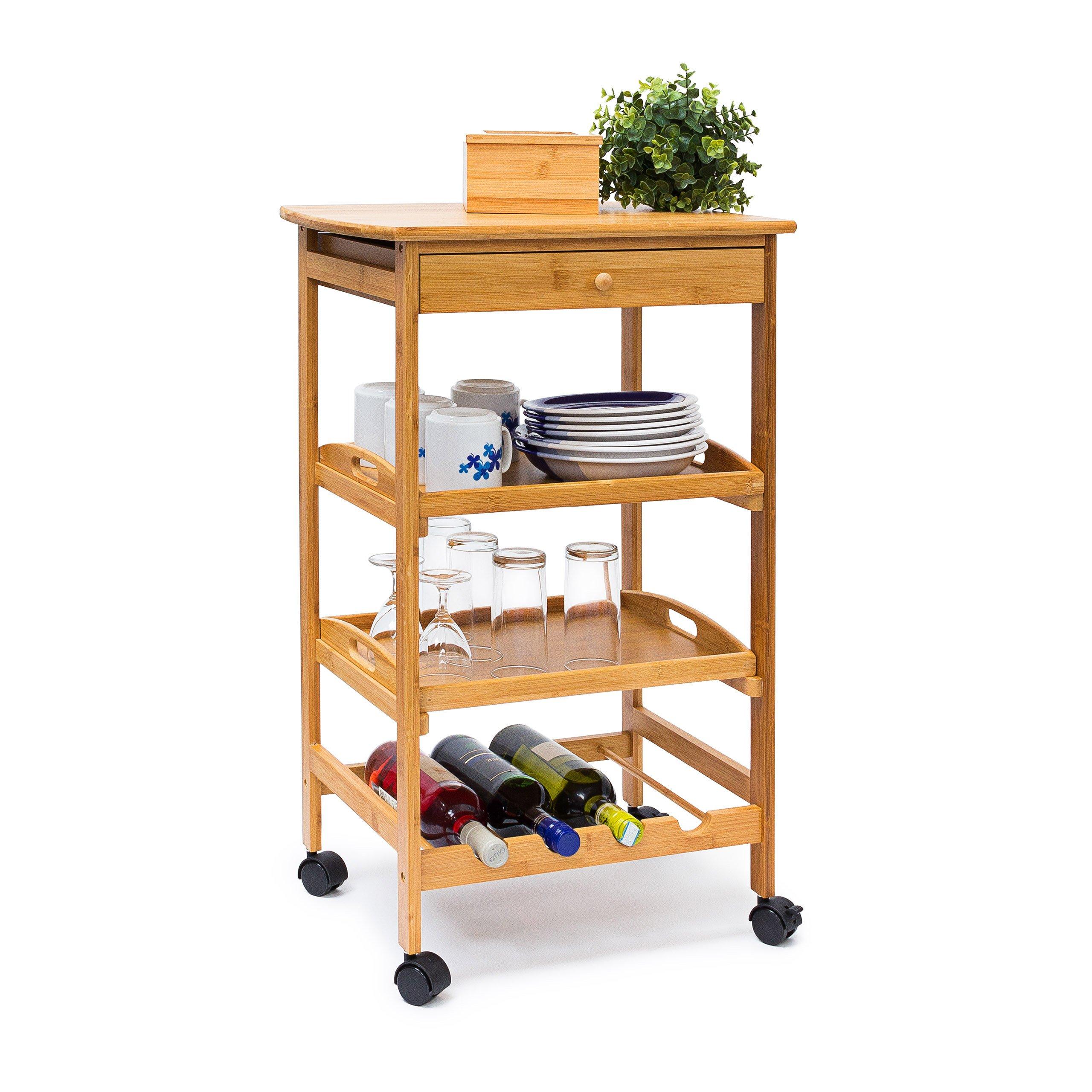 Rolling storage kitchen rolling shelves shelf wheels cart shelving organisation