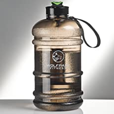 Wolfpack Fitness ® 2,2 L Sport Trinkflasche – Gym Bottle BPA  frei – XXL Water Jug Ideal für Crossfit, Fitness, Kampfsport