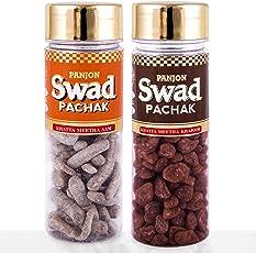 Panjon Swad Pachak Khatta Meetha Aam Mango & Khatta Meetha Khajoor (Pack of 2), 220 gm