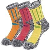 KOOOGEAR 3 Pairs Women Walking Hiking Socks, Anti Blister, Terry Cushion, Breathable, Warm, Moisture Wicking Ladies Trainer S