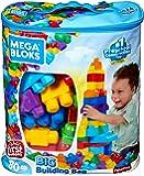 Mega Bloks Sac bleu, briques et jeu de construction, 80 pièces, jouet pour bébé et enfant de 1 à 5 ans, DCH63