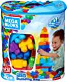 Mattel DCH63 - Mega Bloks  Bausteinebeutel Large, 80 Teile, grundfarben