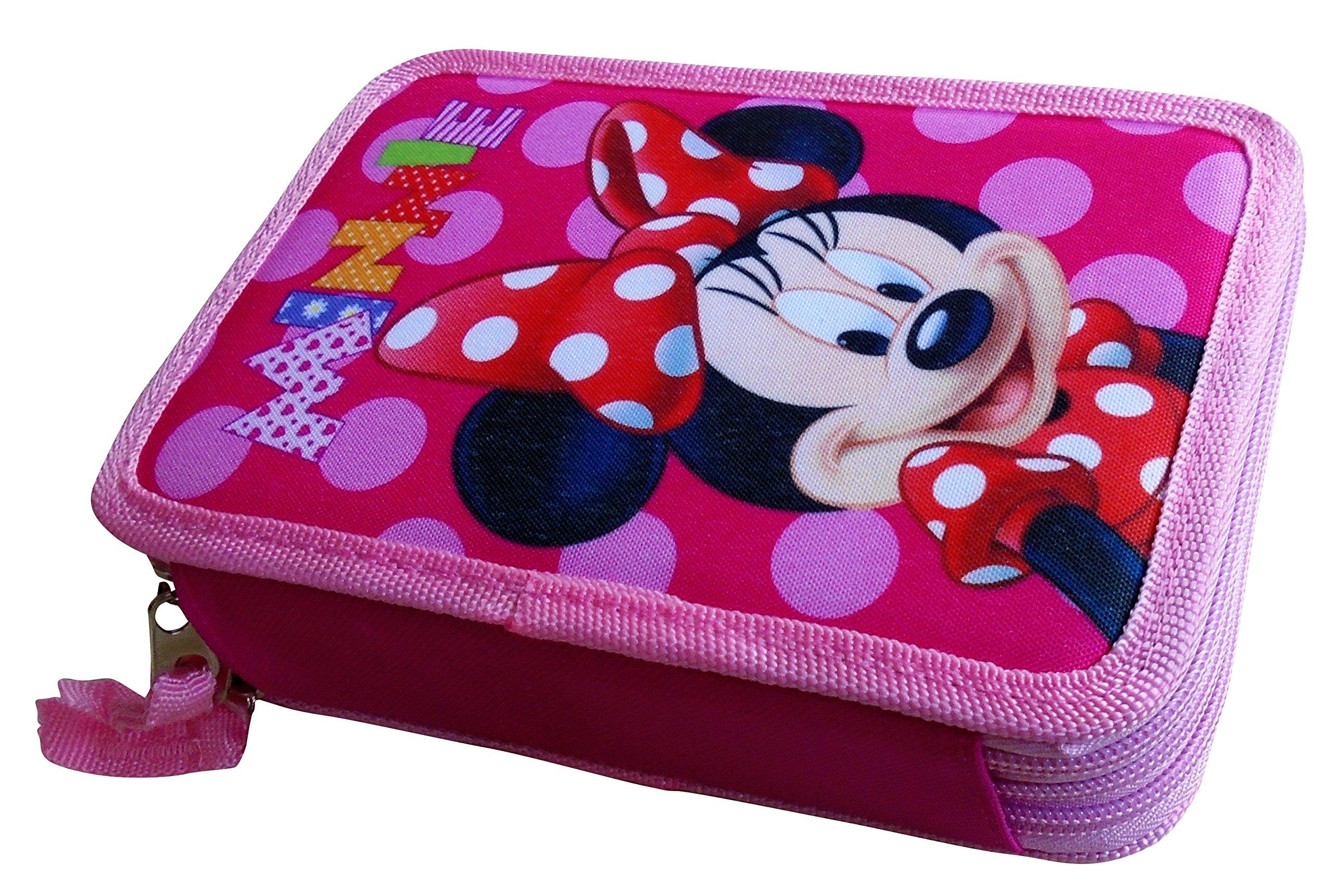 Paxos 82942–Estuche triple Tejido parte 13x 20x 6cm–Disney–Minnie