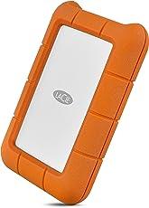 LaCie STFR4000800 Mini 4 TB Externe robuste Festplatte (6,4 cm (2,5 Zoll) Rugged, Staub-, Stoss- und Spritzwasser- geschützt, USB-C)