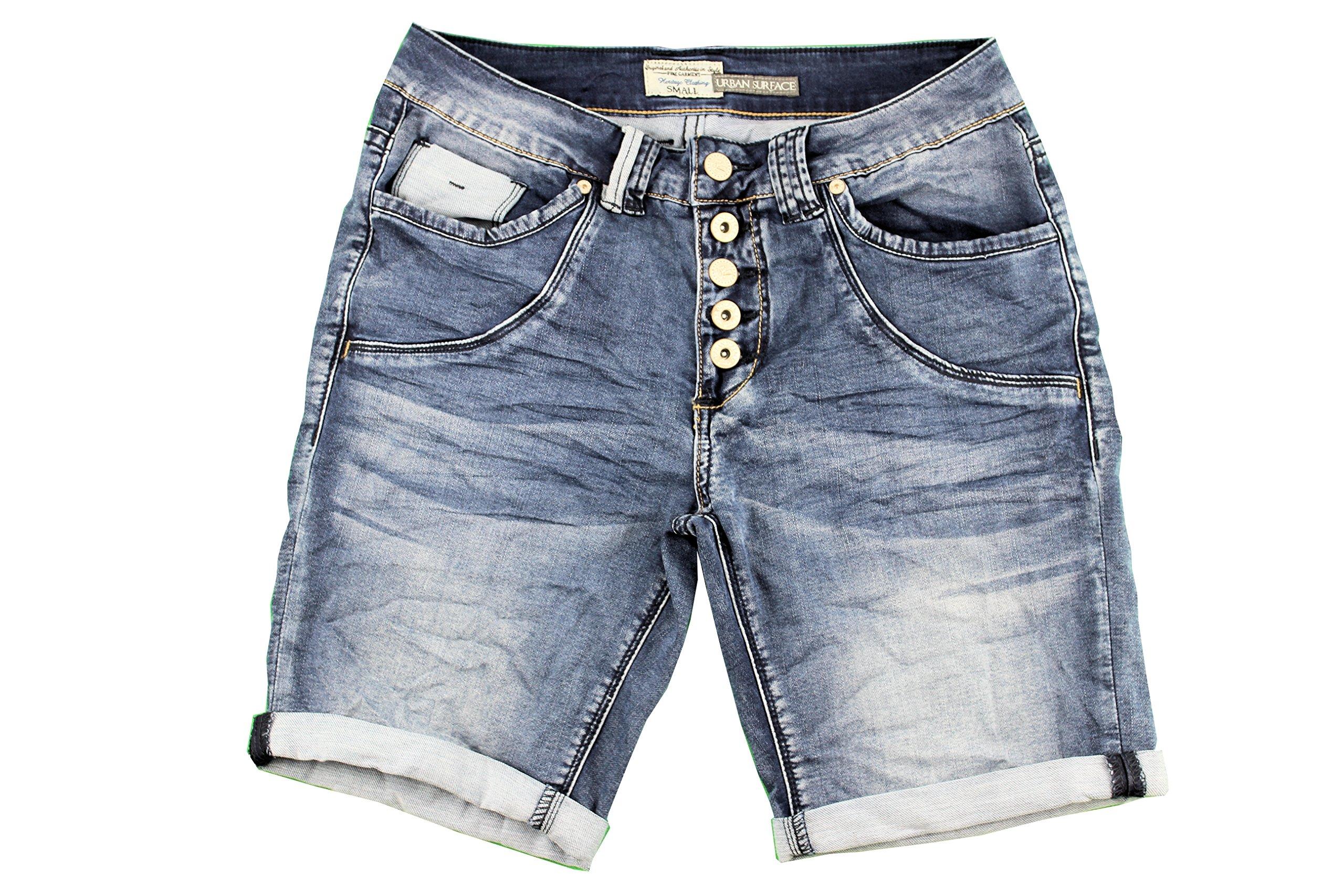 Sublevel Damen Stretch Jeans Bermuda Shorts I Bequeme Kurze