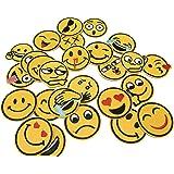 26 pezzi Toppe Termoadesive Patch Adesivi Emoji Faces Toppa Cucire Stoffa Patch per Abbigliamento Borse