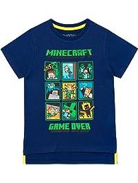064bbb72b Minecraft Camiseta de Manga Corta para niños Creeper and Steve
