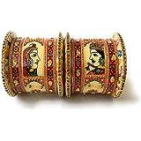 Showstopper Bridal Radha Krishna Rajasthan Bangles Chuda / Choora Set Rajasthani Rajputi Handcrafted Bangle Set