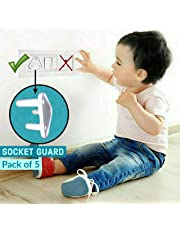 KidDough Baby Proofing Electrical Protector Socket Plug Cover Guards | Open Sockets Guard | Electric Plugs Cover | Baby Proofing (Pack of 5)