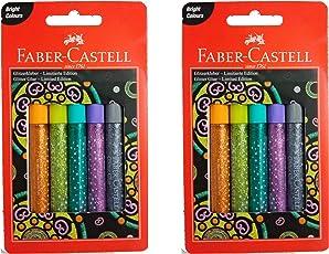 FABER CASTELL Glitter Glue | Glitter Glue PENS | Pack of 10