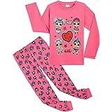 L.O.L. Surprise! Pijama Niña, Conjunto 2 Piezas Pijama Niña Invierno Largo de Las Muñecas LOL, Ropa Niña 100% Algodon, Regalo