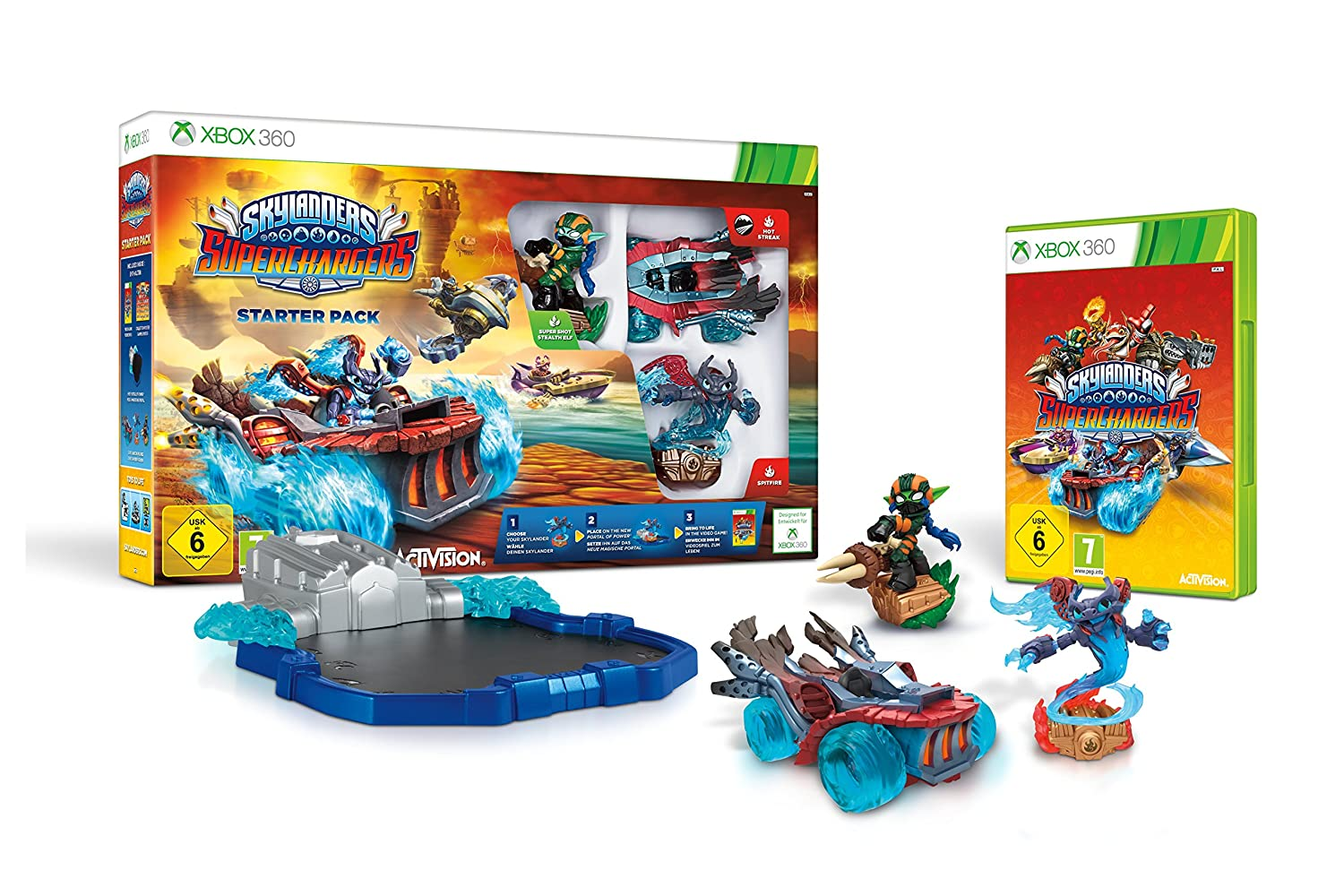 skylanders superchargers racing starter pack nintendo wii amazoncouk pc video games