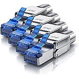 Primewire - 4x connecteurs de sertissage sans outils RJ45 CAT 6 CAT 7 CAT 8 - connecteur modulaire rj45 - fiche rj45 sans out