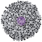 Asian Hobby Crafts Googly Moving Eyes, Black/White (200 Pieces, 7mm)