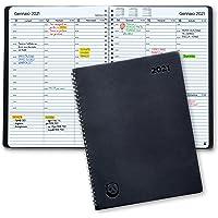 Diario 2021 di SmartPanda – Agenda 2021 Settimanale - Design Semplice per Stimolare la Produttività – Copertina Morbida…