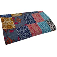 Vinay Crafts Handcrafted Cotton Patch Work Indian Kantha Quilt Bed Spread Blanket Queen Size Coverlet for Double Bed…