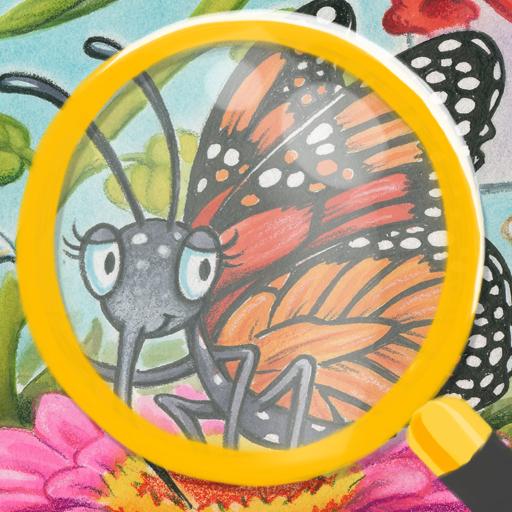 Ausgabe Tierreich Finde-die-Unterschiede Natur Beobachtungs-Spiel für Kinder, illustriert von Debbie Palen