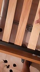 EvergreenWeb - Somier Individual 85x190 de Láminas de Madera y Estructura Portante de Hierro Reforzada con 4 Pies Extraíbles, Ortopédico, Base ...