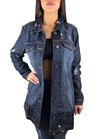 Jeansjacke lang damen