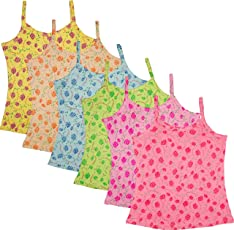UCARE Care Pure Cotton Plain Slip for Girls & Kids (2013A-Pack of 6)
