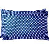 Amazon Brand - Solimo 2-Piece Premium Bed Pillow Set, Blue and White, 43 x 69 cm