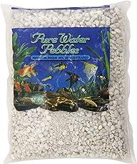 Pure Water Pebbles Aquarium Gravel, 2-Pound, Snow White
