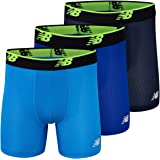"""New Balance Men's Mesh 5"""" No Fly Boxer Brief, Athletic Compression Underwear (3-Pack)"""