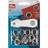 Prym 541370 - Ringen en schijven 11mm - Zilver - 15 stuks, 11 mm