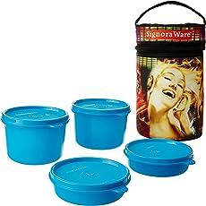Signoraware Jazz Executive Big Lunch Box with Bag Set, 4-Pieces