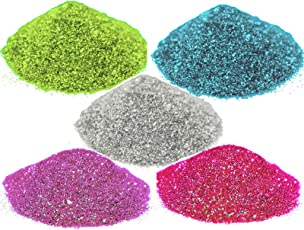 AsianHobbyCrafts Glitter Sparkle Powder (Pack of 5)