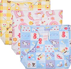 Baby Joy Just Born Diaper Padded Nappies (6-12 Months) Pack Of 3 Multicolor