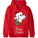 Personalised Christmas Hoodie Men's Women's Christmas Jumper Cotton Sweatshirt Handmade with cute Dogs Picture XS - 2XL