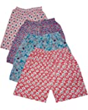 sonia collection (Combo Pack of 4 Printed Hosiery Cotton Comfortable Shorts for Sports, Yoga, Daily Use Gym, Night Wear…