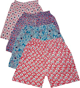 sonia collection (Combo Pack of 4 Printed Hosiery Cotton Comfortable Shorts for Sports, Yoga, Daily Use Gym, Night Wear, Casual Wear for Women & Girls