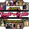 Shri Kanth Art® Personalized Happy Anniversary Picture Photo Frame for Love Once Photo Collage with Name Photo Frame Gift for